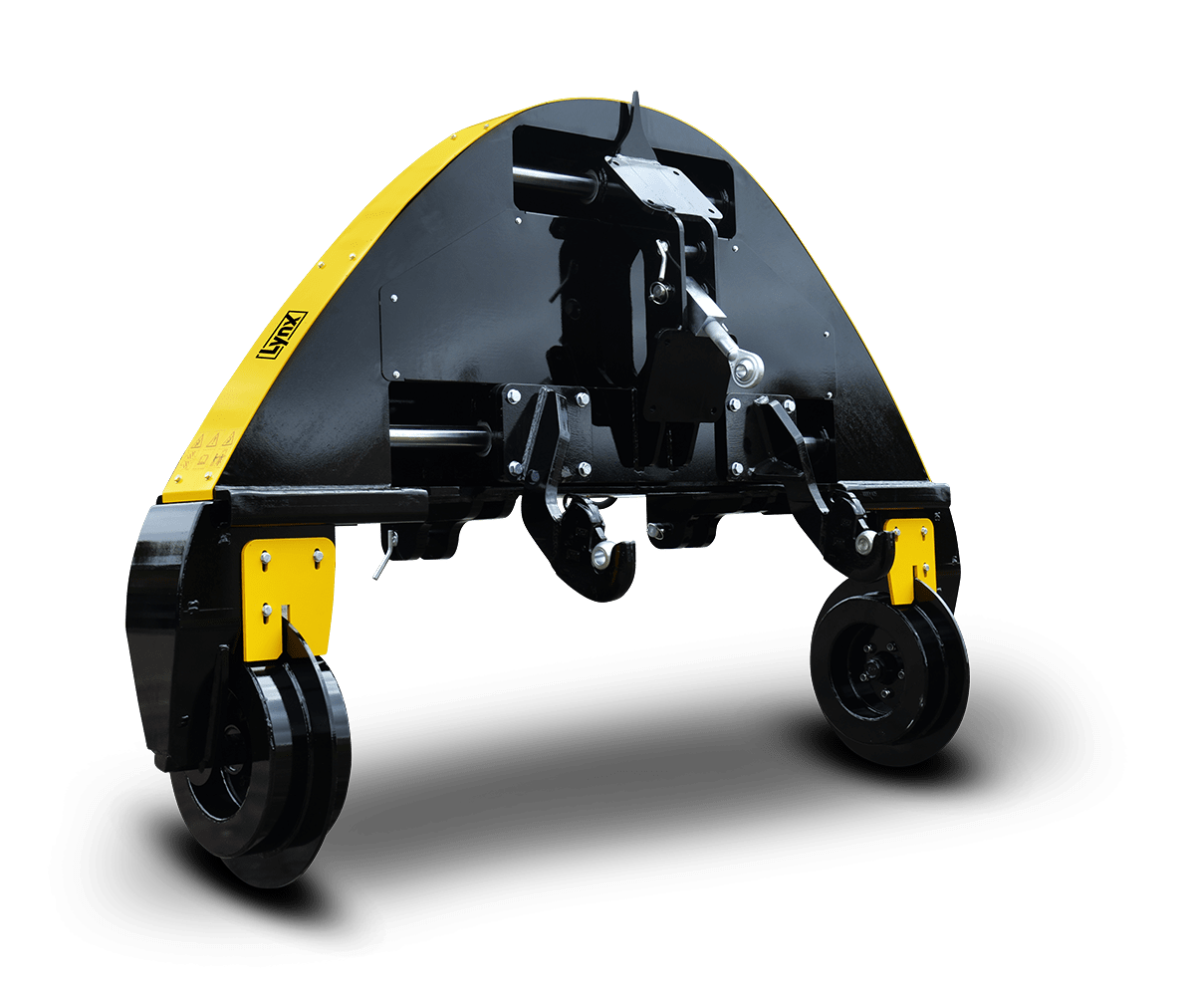 LYNX guidance interface of PHENIX manufacturer for large crop row hoes, achieving accurate self-guidance. Striking centimeter-wide in-the-row accuracy
